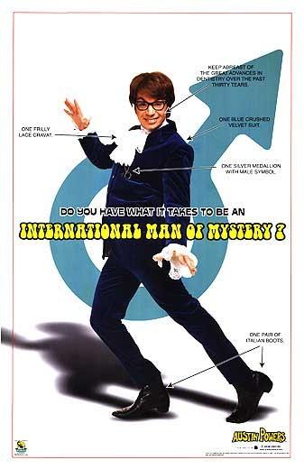 плакат фильма Остин Пауэрс. Человек-загадка международного масштаба
