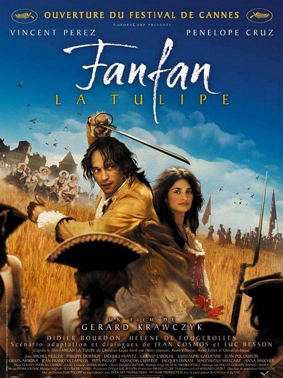 плакат фильма постер Фанфан Тюльпан