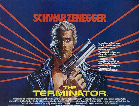 плакат фильма биллборды Терминатор