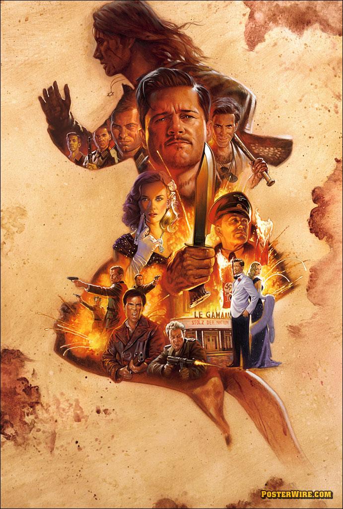 плакат фильма Бесславные ублюдки
