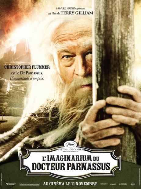 плакат фильма Воображариум доктора Парнаса Кристофер Пламмер,