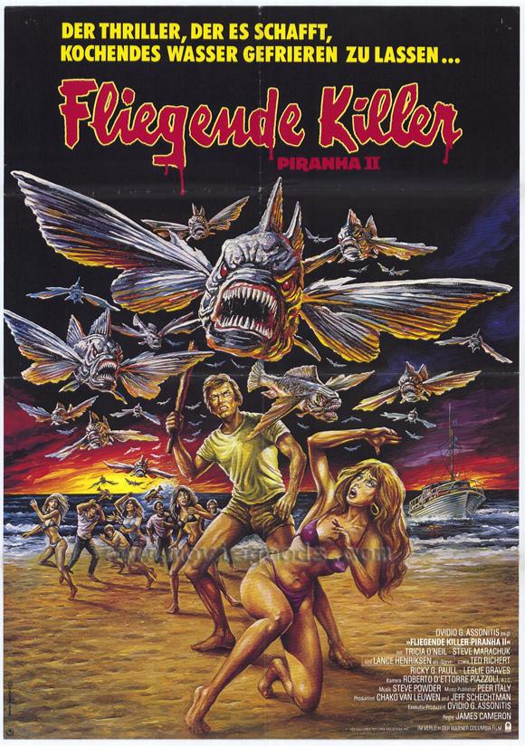 плакат фильма Пиранья II: Нерест