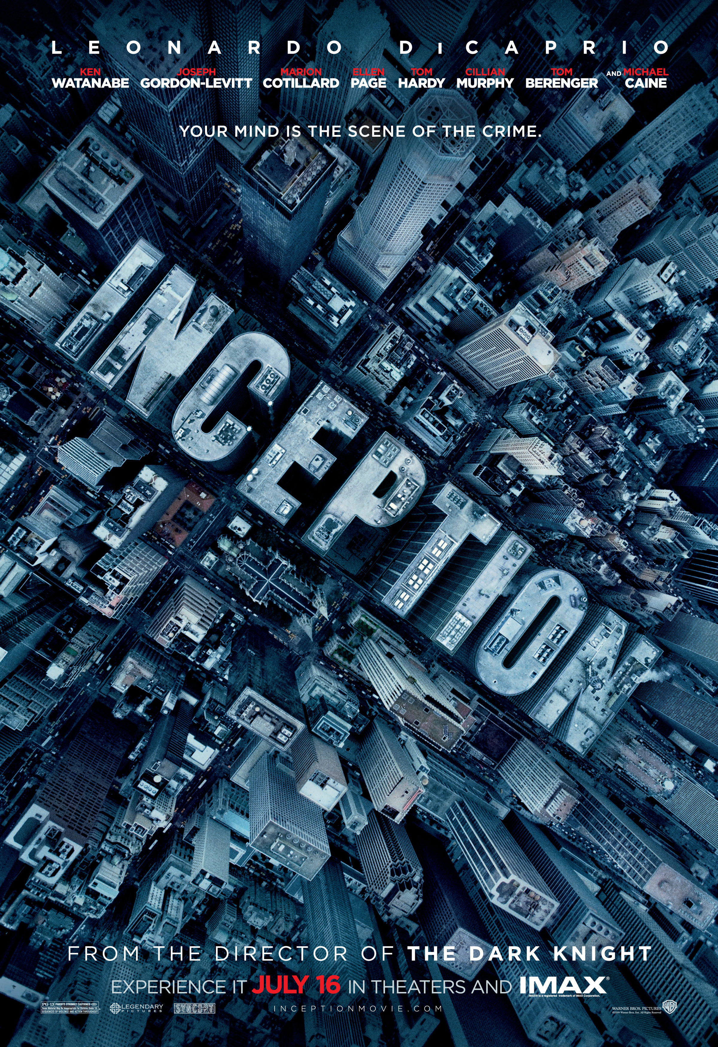 плакат фильма тизер вирусная кампания Начало