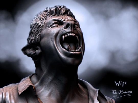 концепт-арты Человек-волк Бенисио Дель Торо,