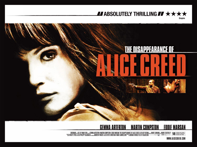 плакат фильма биллборды Исчезновение Элис Крид