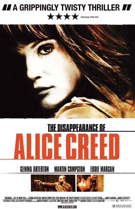 плакат фильма постер Исчезновение Элис Крид