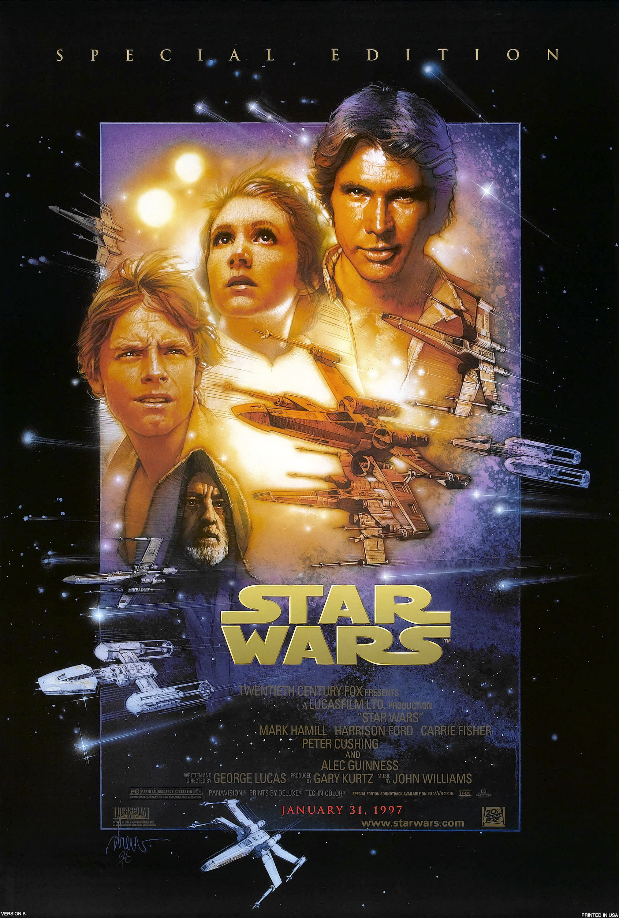 Star wars a new hope movie poster