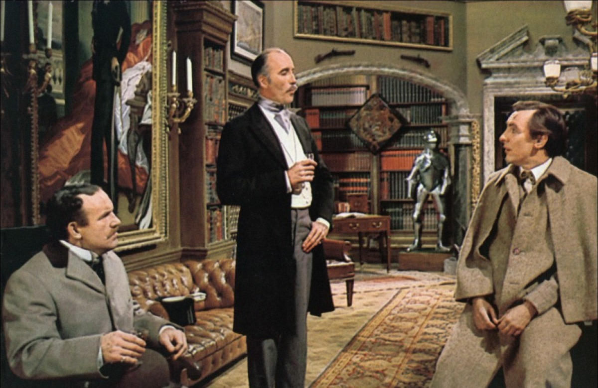 кадры из фильма Частная жизнь Шерлока Холмса Кристофер Ли, Колин Блейкли, Роберт Стивенс,