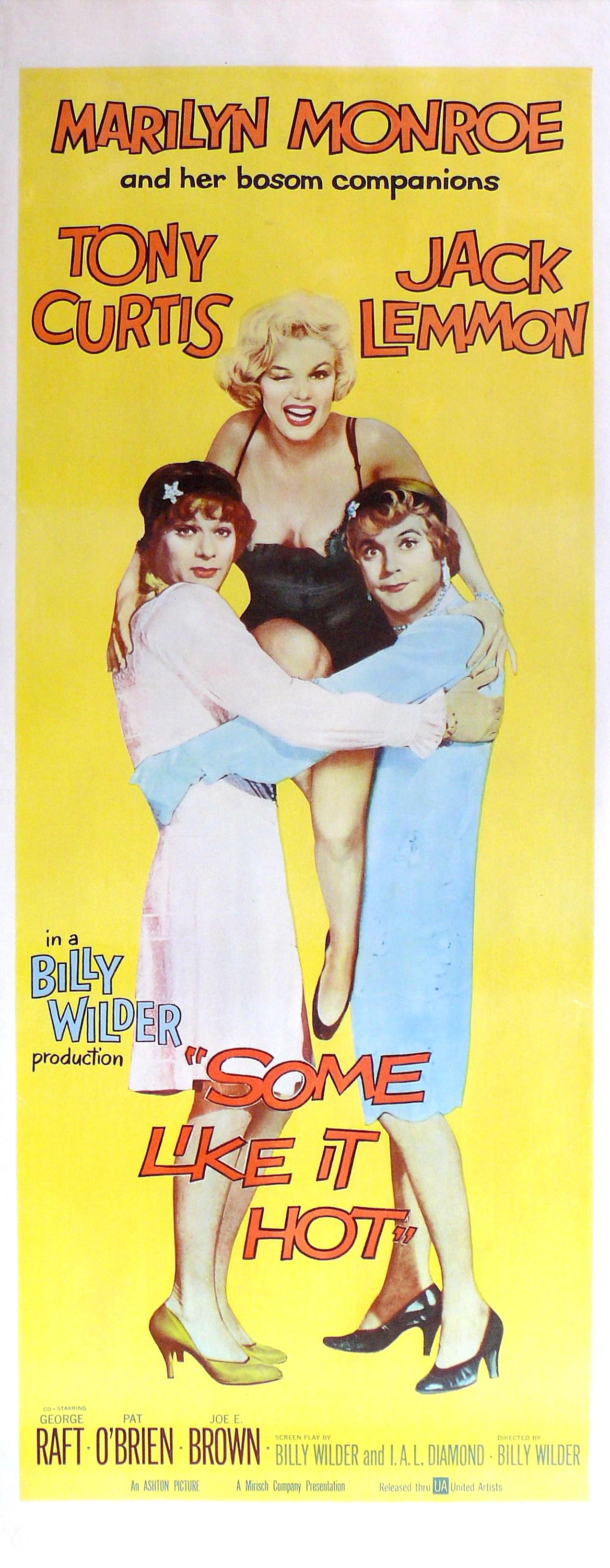 плакат фильма баннер В джазе только девушки