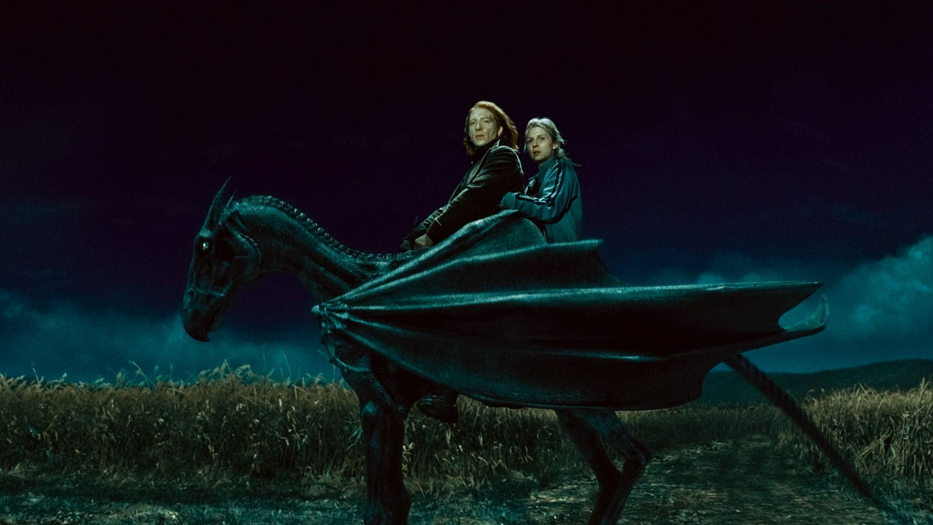 кадры из фильма Гарри Поттер и Дары Смерти: Часть первая Домнэлл Глисон, Клеманс Поэзи,