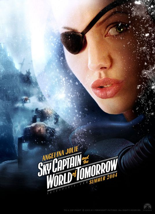плакат фильма характер-постер Небесный капитан и мир будущего Анжелина Джоли,