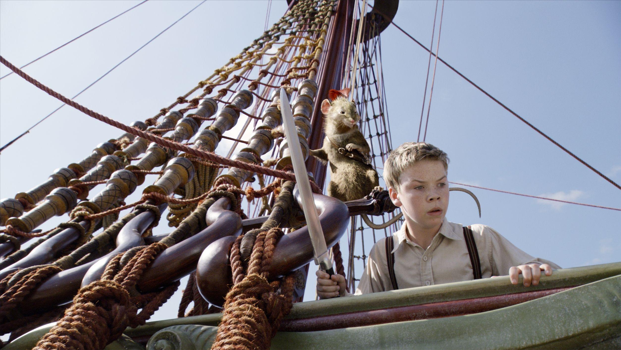 кадры из фильма Хроники Нарнии: Покоритель зари Саймон Пегг, Уилл Полтер,