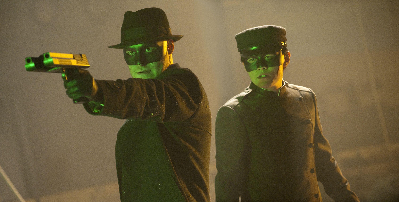 кадры из фильма Зеленый шершень Джей Чу, Сет Роген,