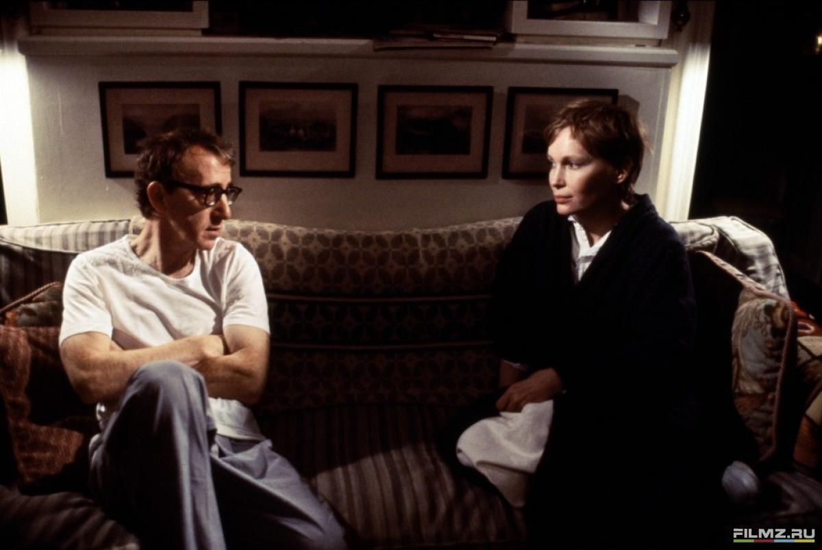 кадры из фильма Мужья и жены Вуди Аллен, Миа Фэрроу,