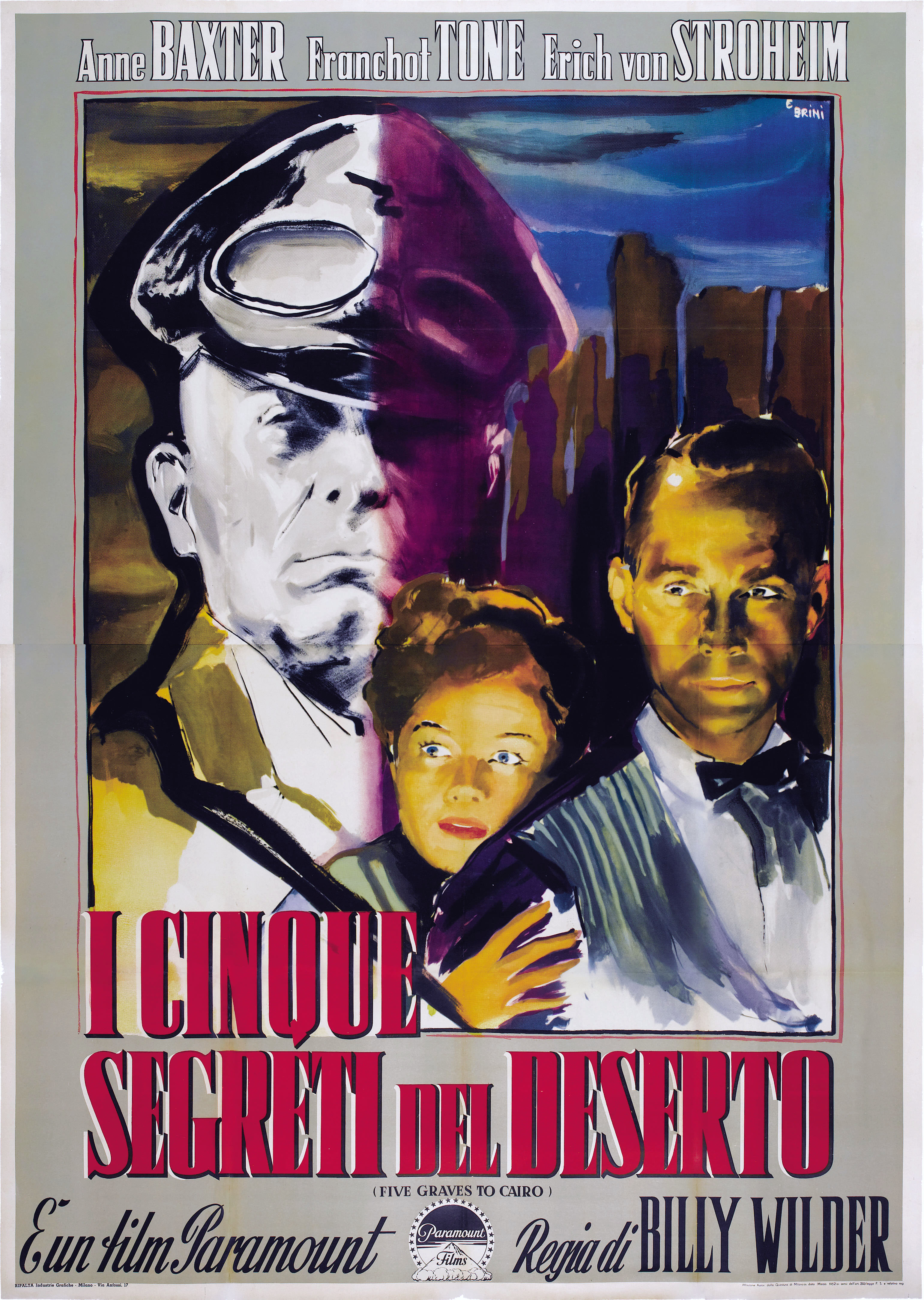 плакат фильма постер Пять гробниц по пути в Каир