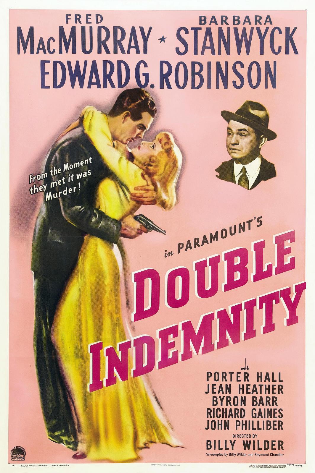 плакат фильма постер Двойная страховка