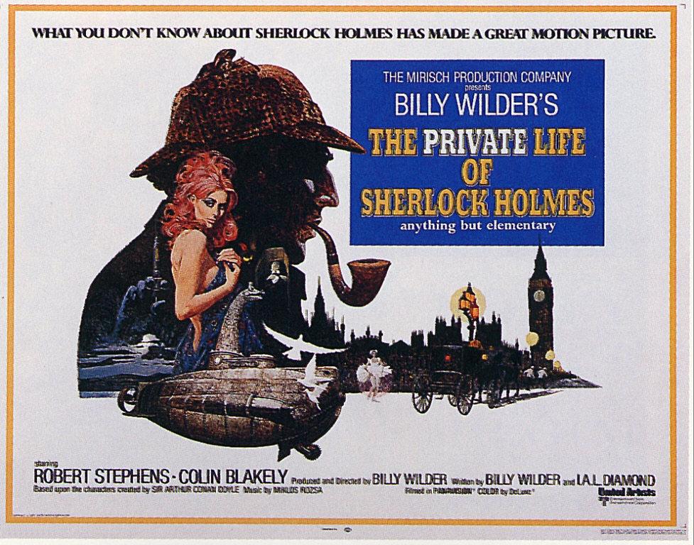 плакат фильма биллборды Частная жизнь Шерлока Холмса