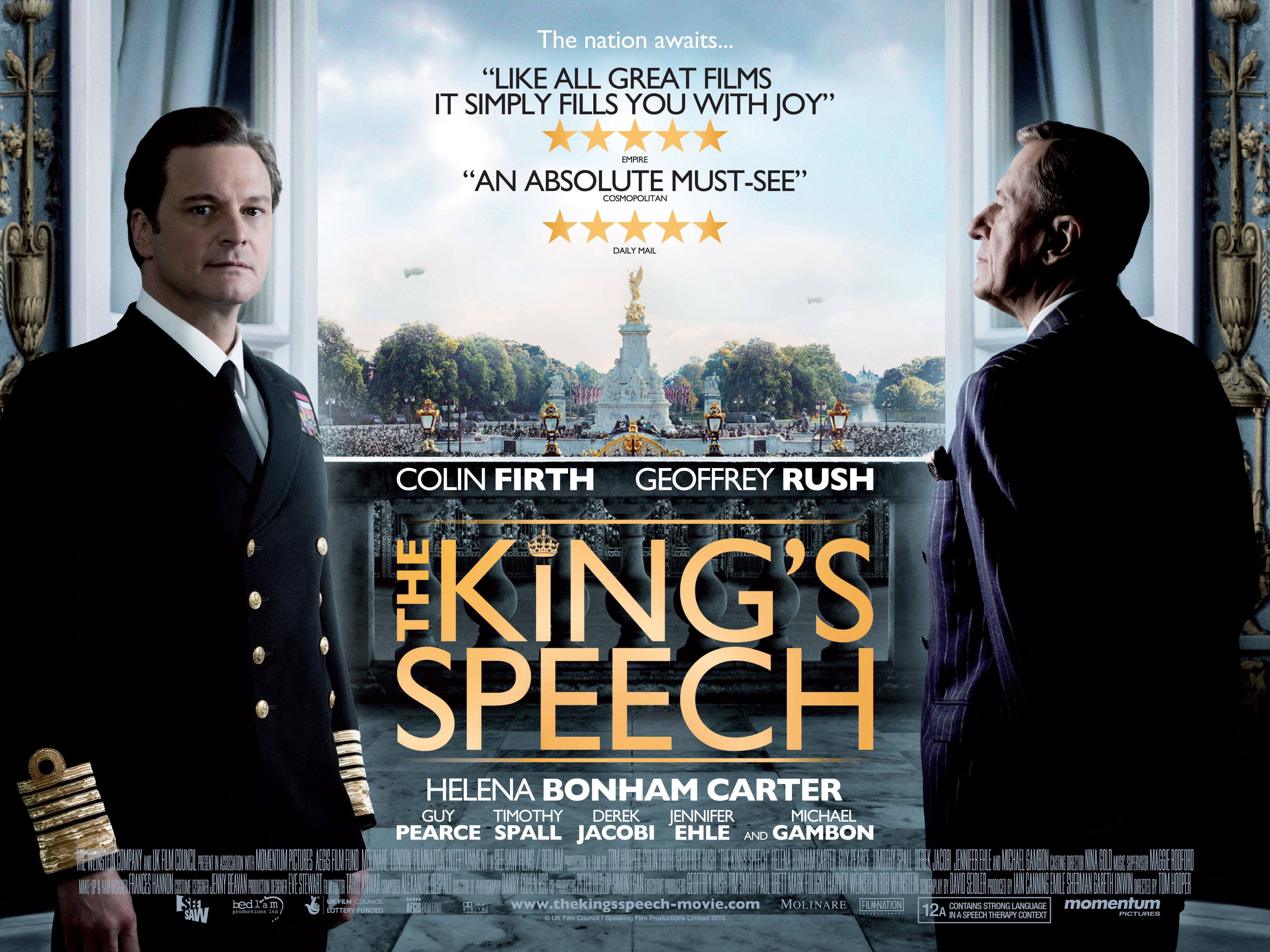 плакат фильма биллборды Король говорит!