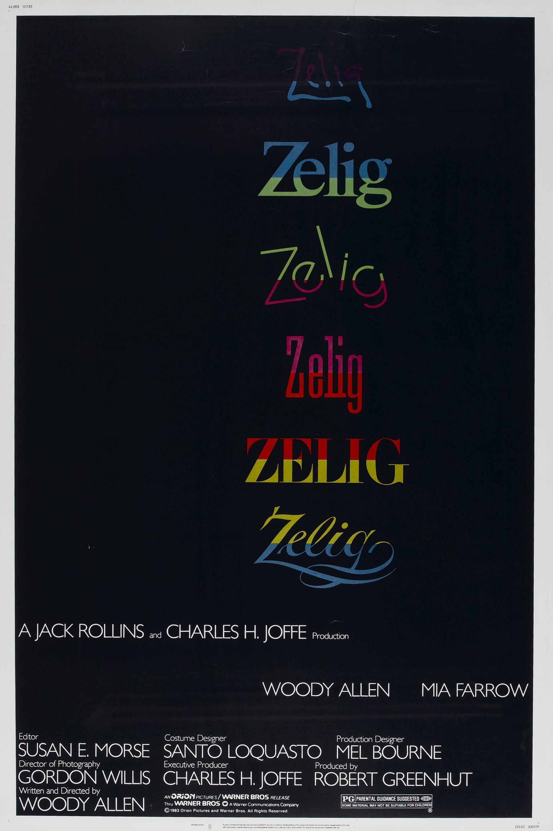 плакат фильма постер Зелиг