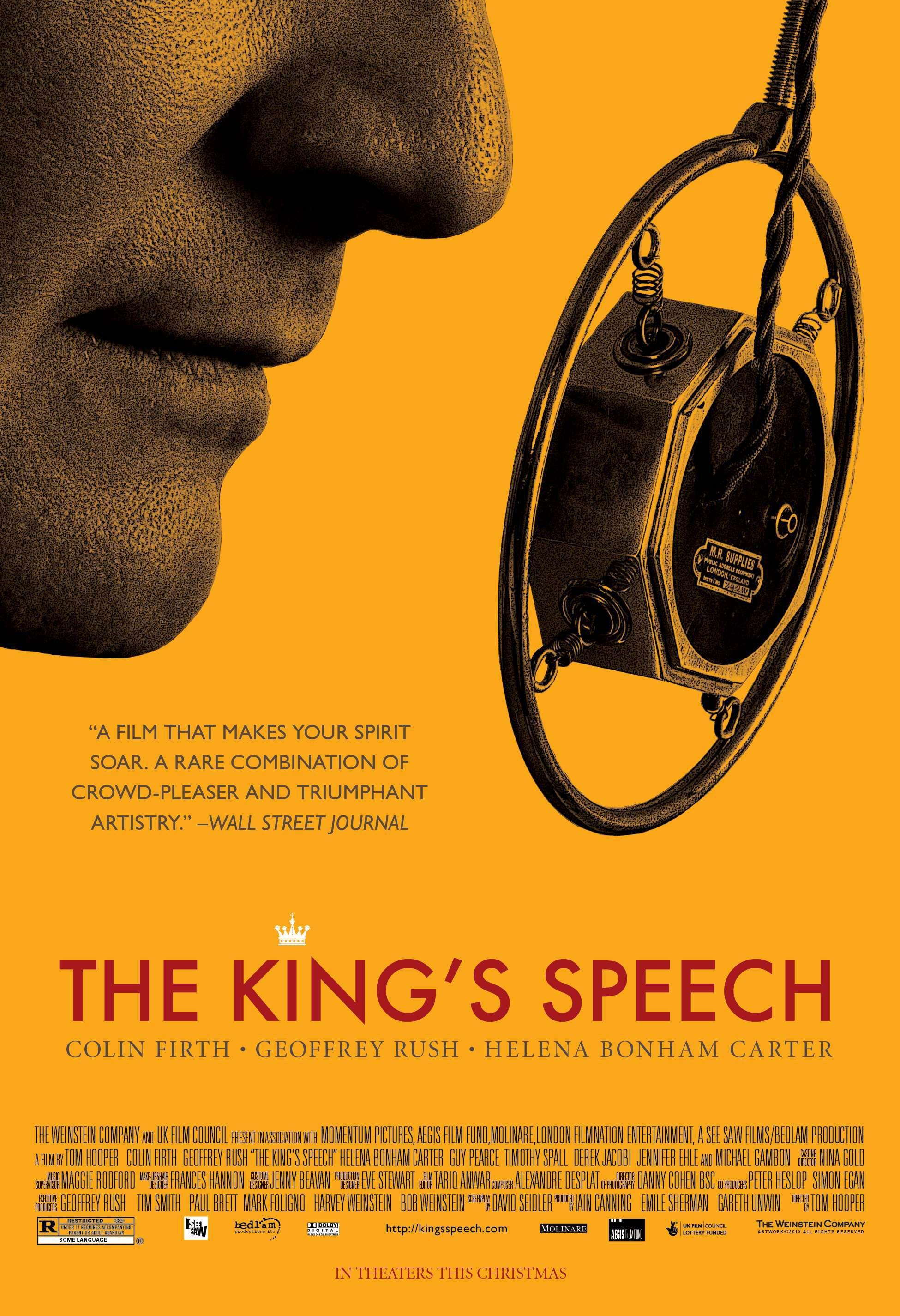 плакат фильма тизер Король говорит!