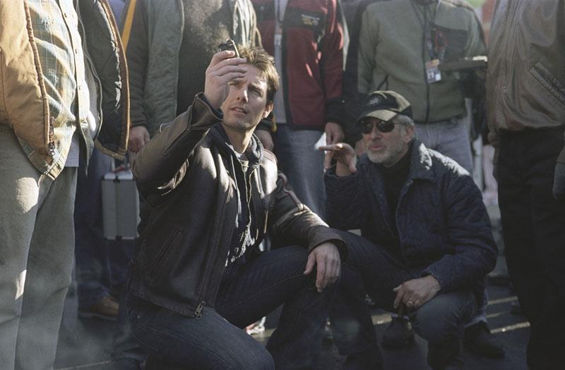 со съемок Война миров Стивен Спилберг, Том Круз,