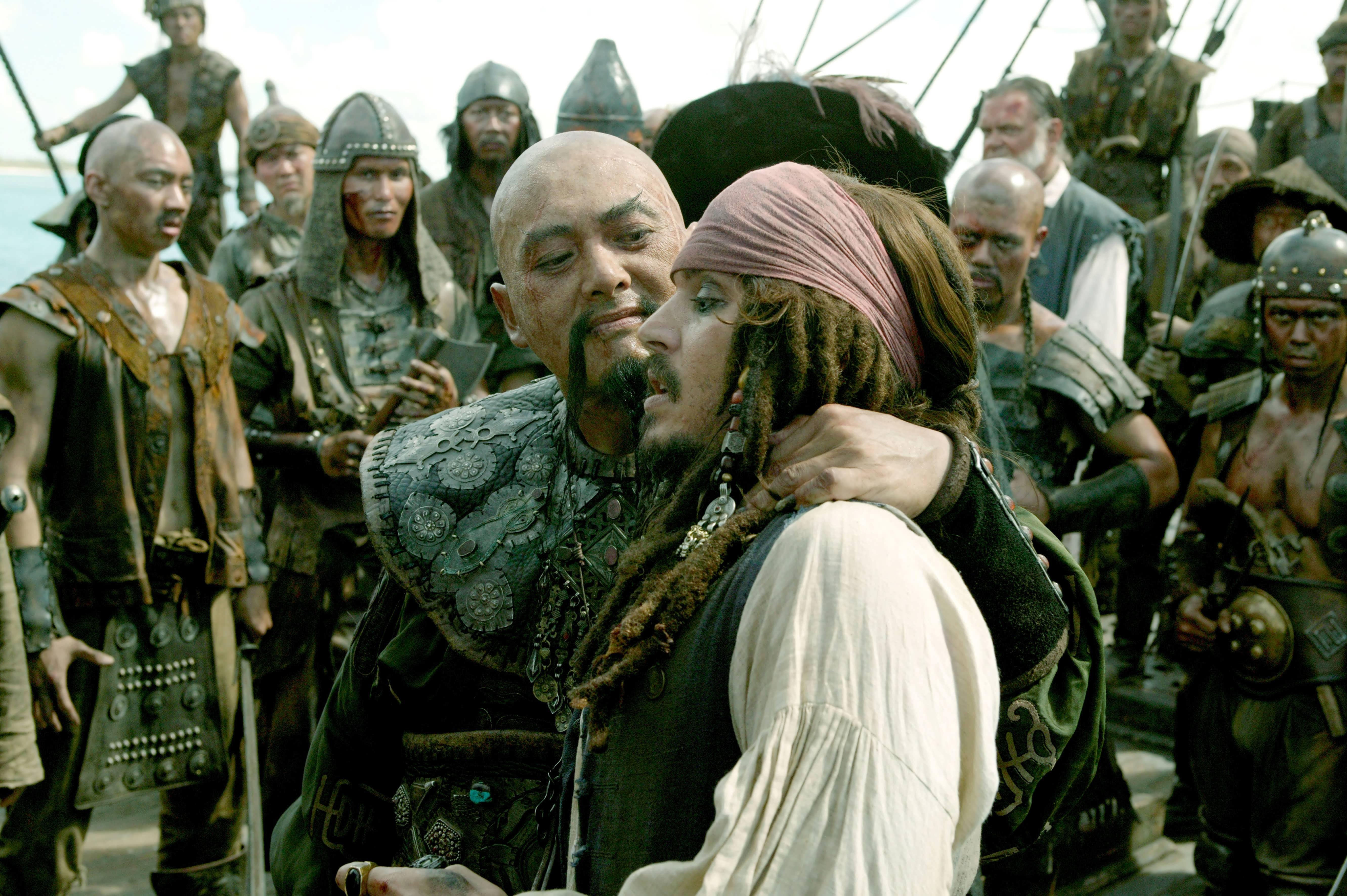 кадры из фильма Пираты Карибского моря: На краю света Кевин МакНэлли, Чоу Юнь-Фат, Джонни Депп,