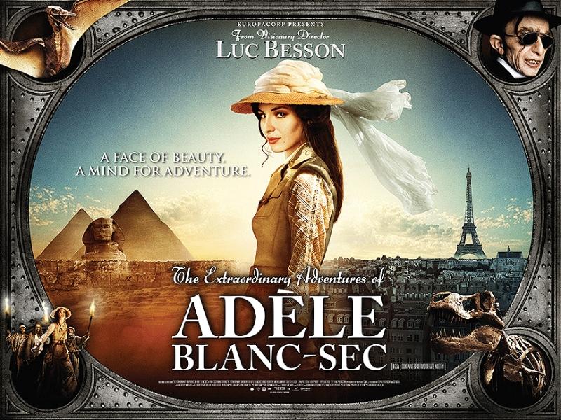плакат фильма биллборды Необычайные приключения Адель