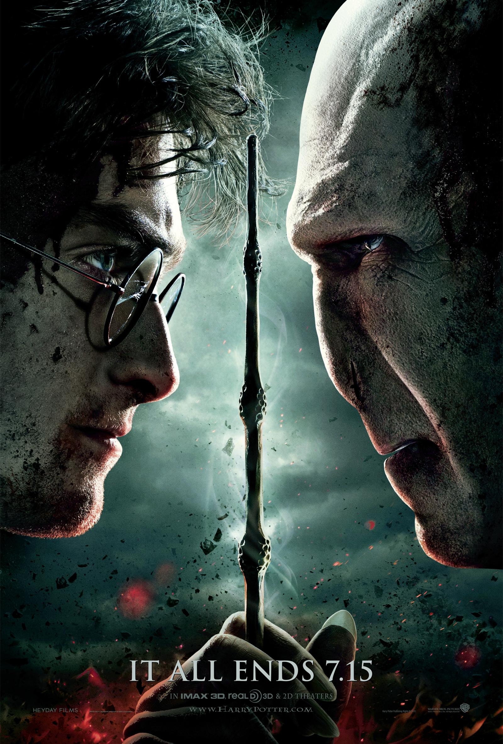 плакат фильма тизер Гарри Поттер и Дары Смерти: Часть вторая