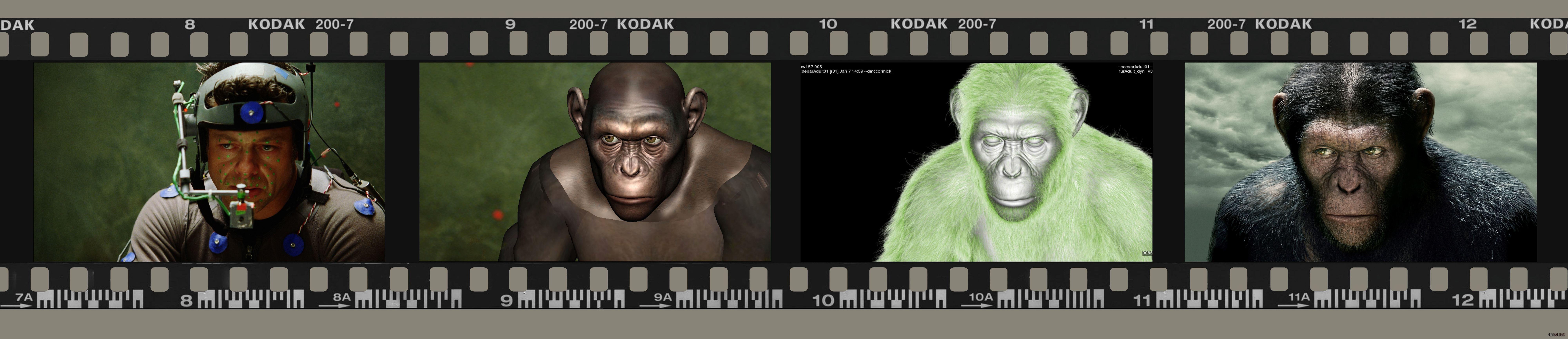 со съемок Восстание планеты обезьян Энди Серкис,