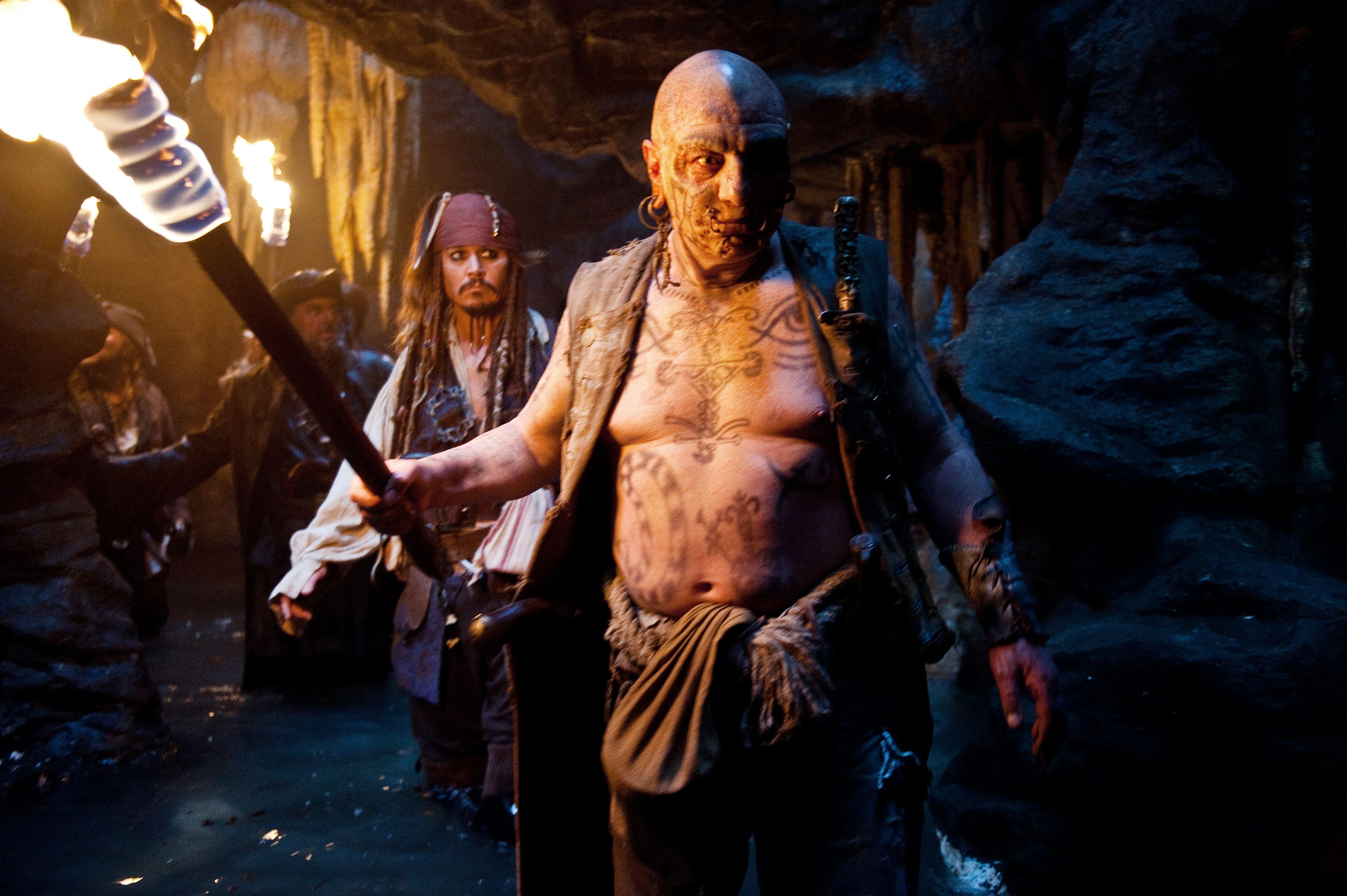 кадры из фильма Пираты Карибского моря: На странных берегах Стивен Грэм, Иэн МакШейн, Джонни Депп, Иэн Мерсер,