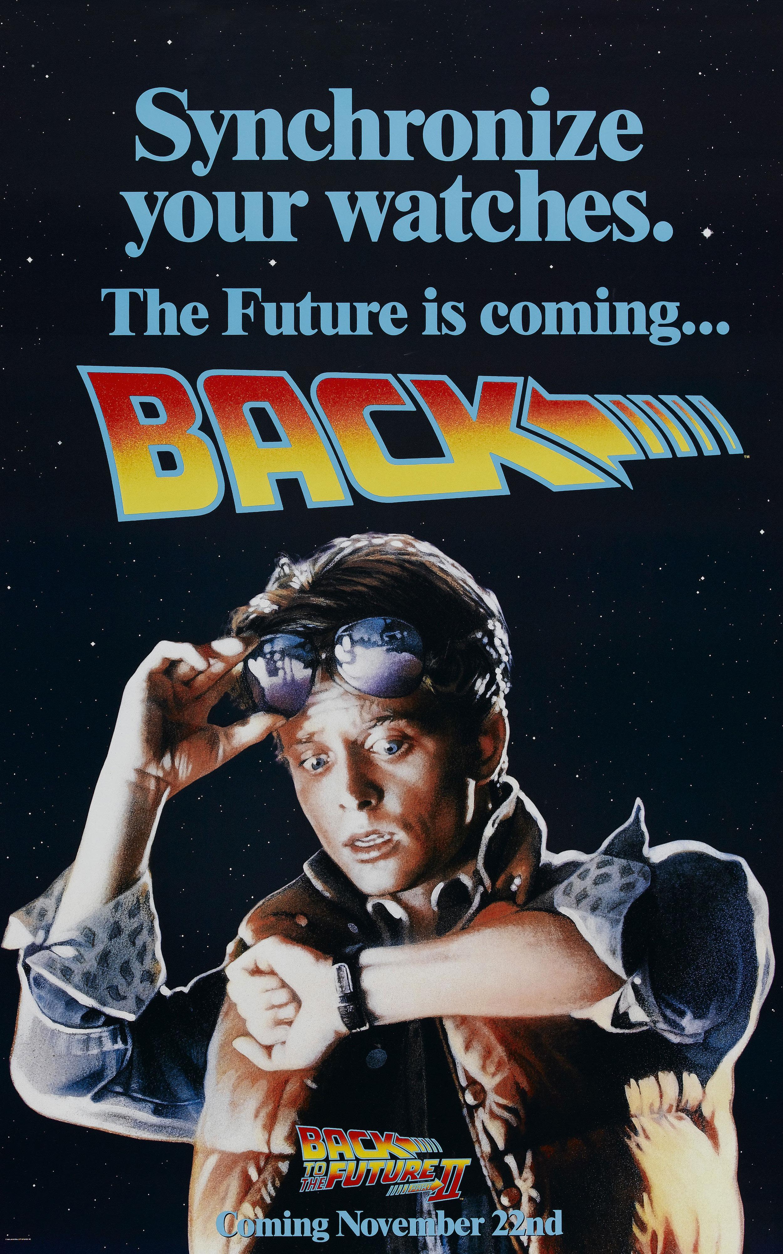 плакат фильма тизер Назад в будущее, часть II
