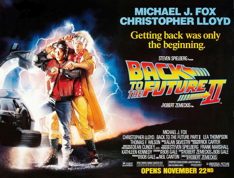 плакат фильма биллборды Назад в будущее, часть II