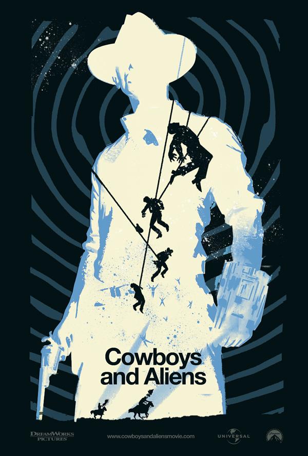 плакат фильма арт-постеры Ковбои против пришельцев