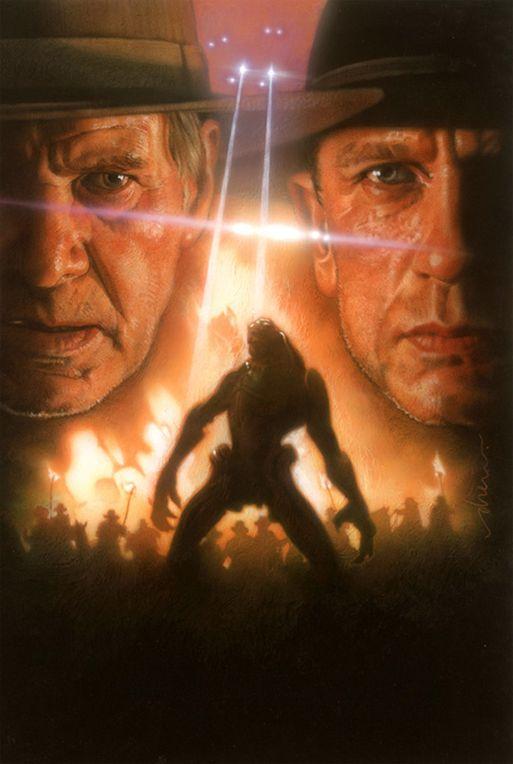 плакат фильма textless неиспользованный эскиз Дрю Струзан Ковбои против пришельцев