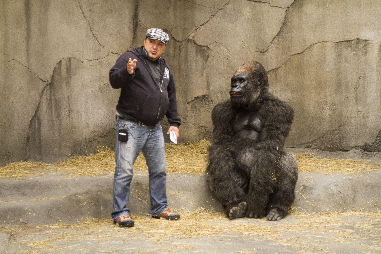 со съемок Мой парень из зоопарка Фрэнк Корачи,