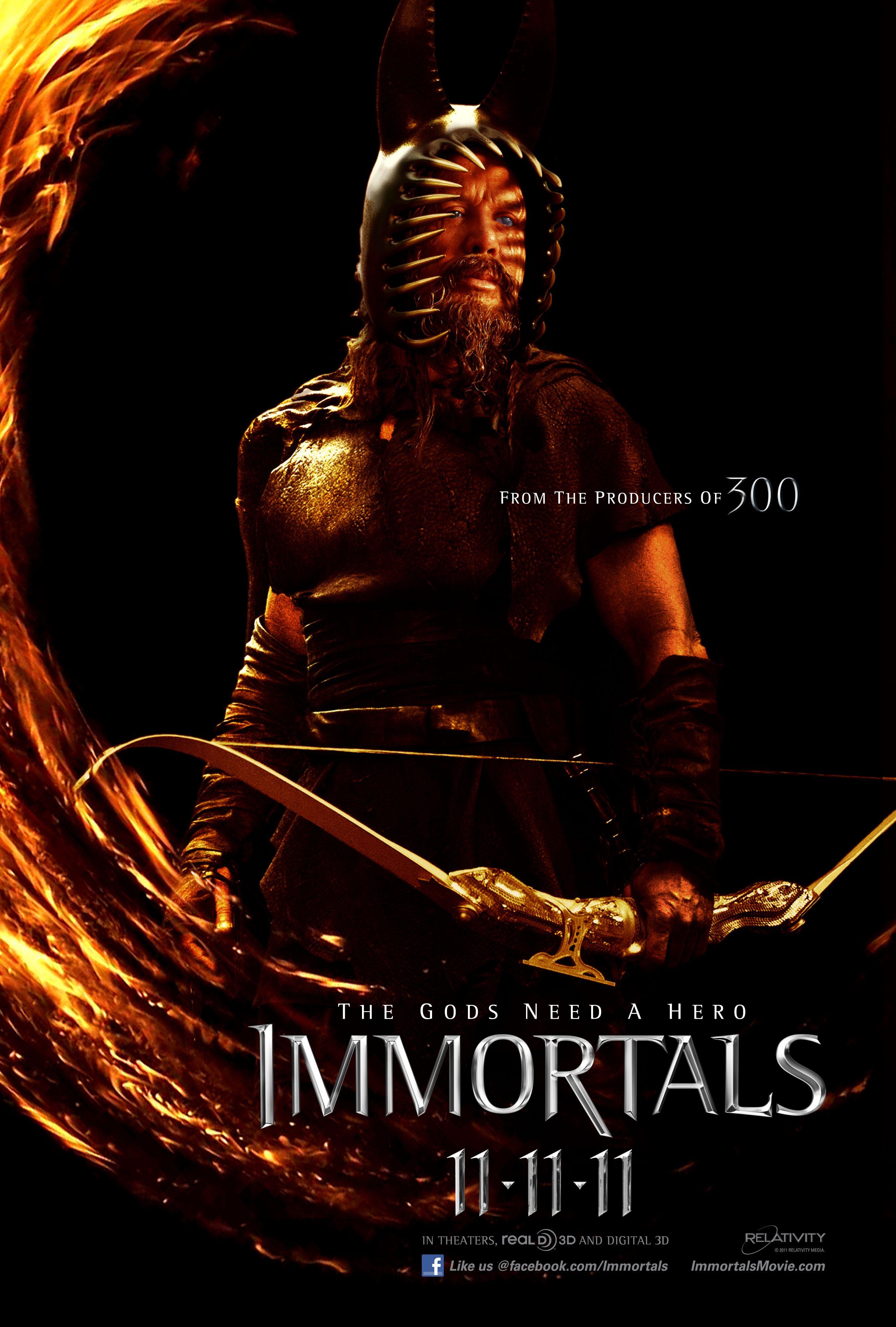 плакат фильма характер-постер Война богов: Бессмертные