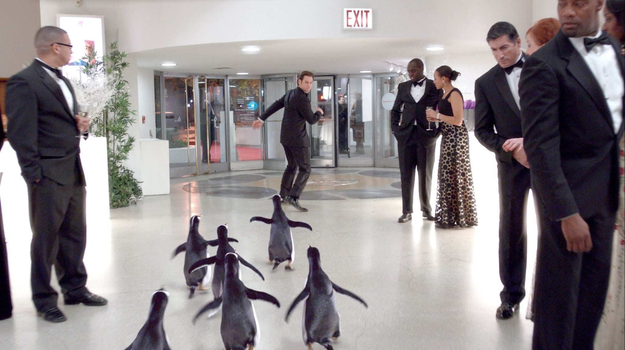 кадры из фильма Пингвины мистера Поппера Джим Кэрри,