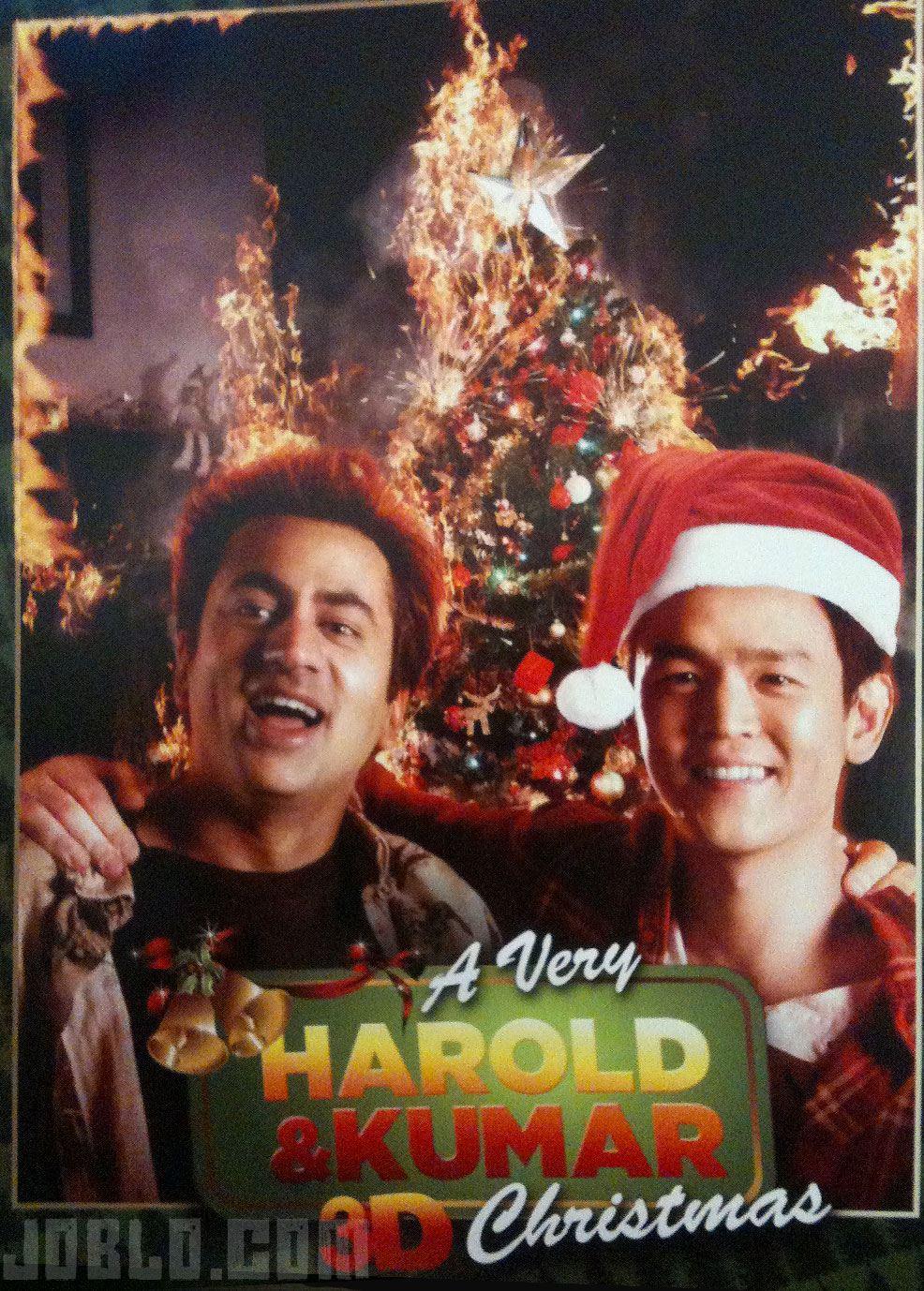 плакат фильма сейлс-арт Убойное Рождество Гарольда и Кумара