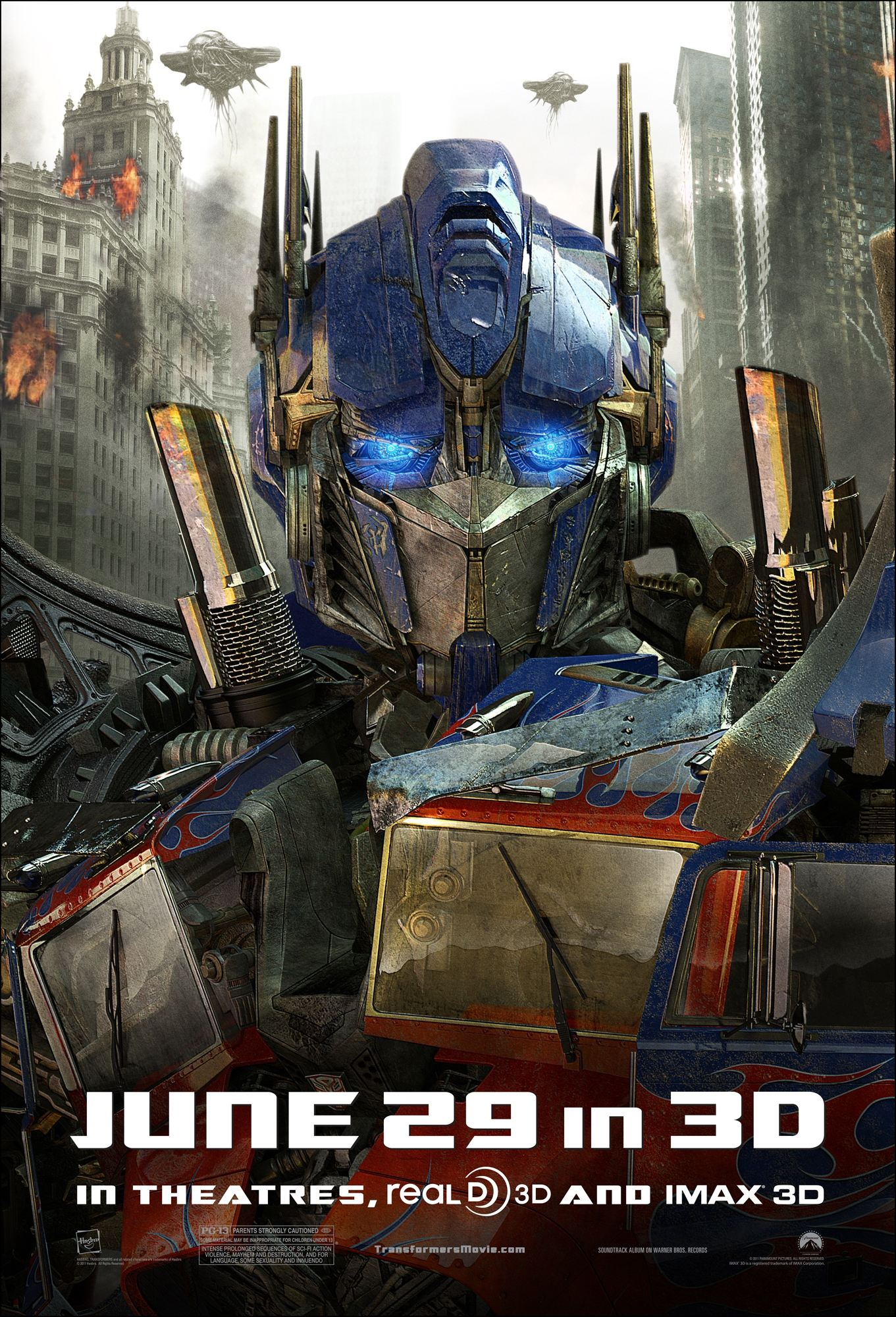 плакат фильма характер-постер Трансформеры 3: Темная сторона Луны
