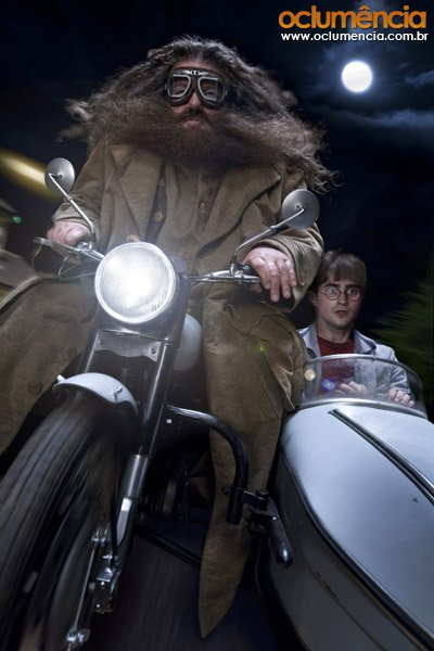 кадры из фильма Гарри Поттер и Дары Смерти: Часть первая Робби Колтрейн, Дэниэл Рэдклифф,