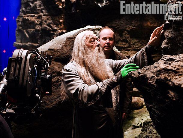 со съемок Гарри Поттер и Принц-полукровка Майкл Гэмбон, Дэвид Йейтс,