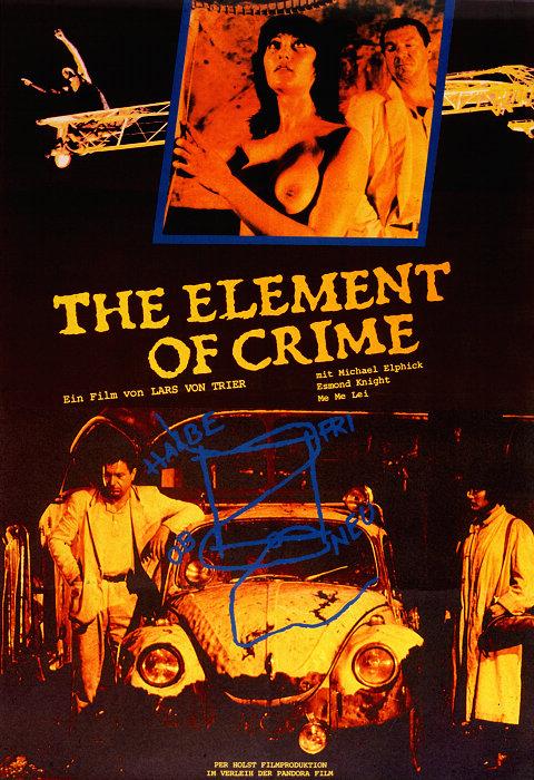 плакат фильма постер Элемент преступления