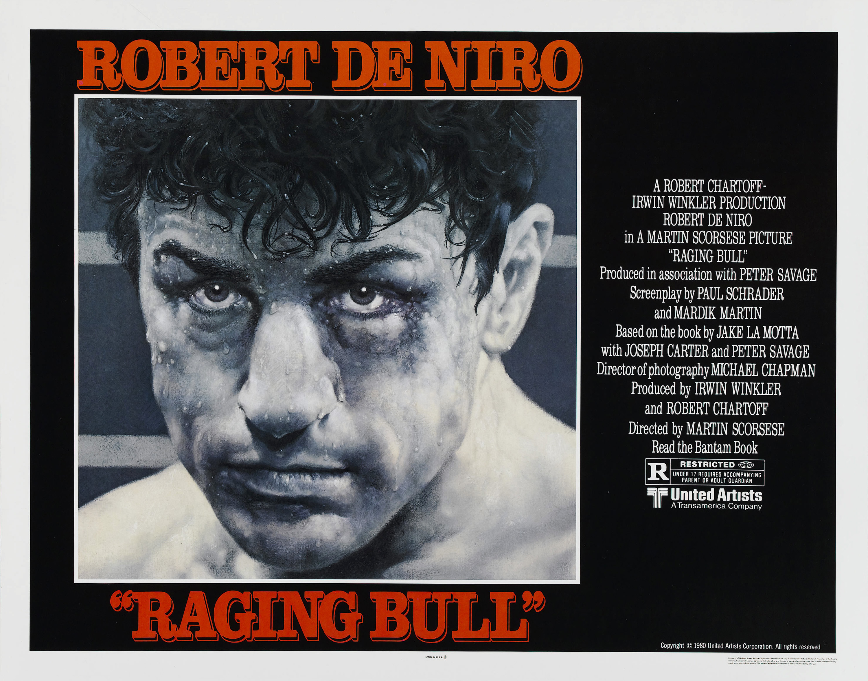 плакат фильма баннер Бешеный бык