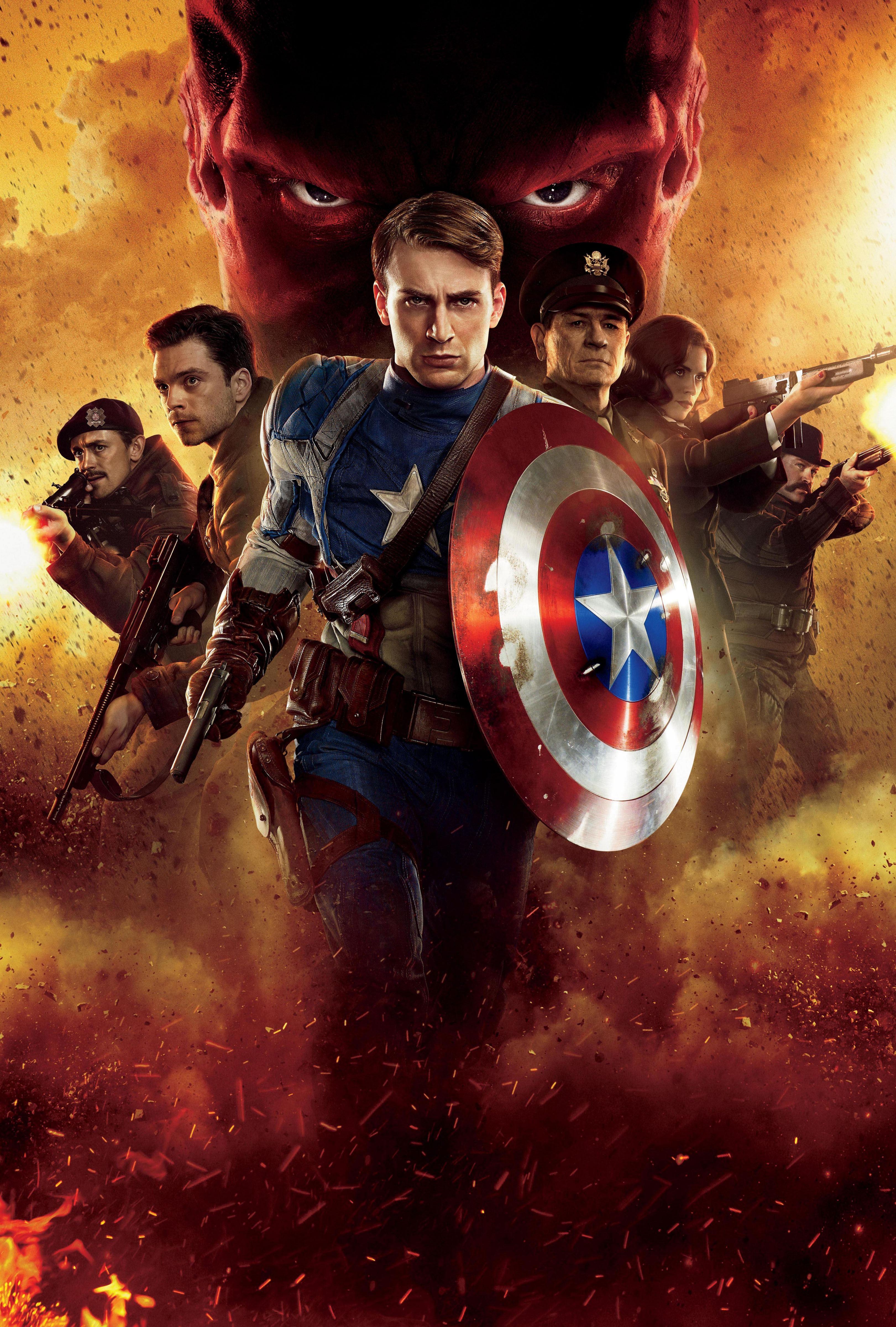 плакат фильма постер textless Первый Мститель