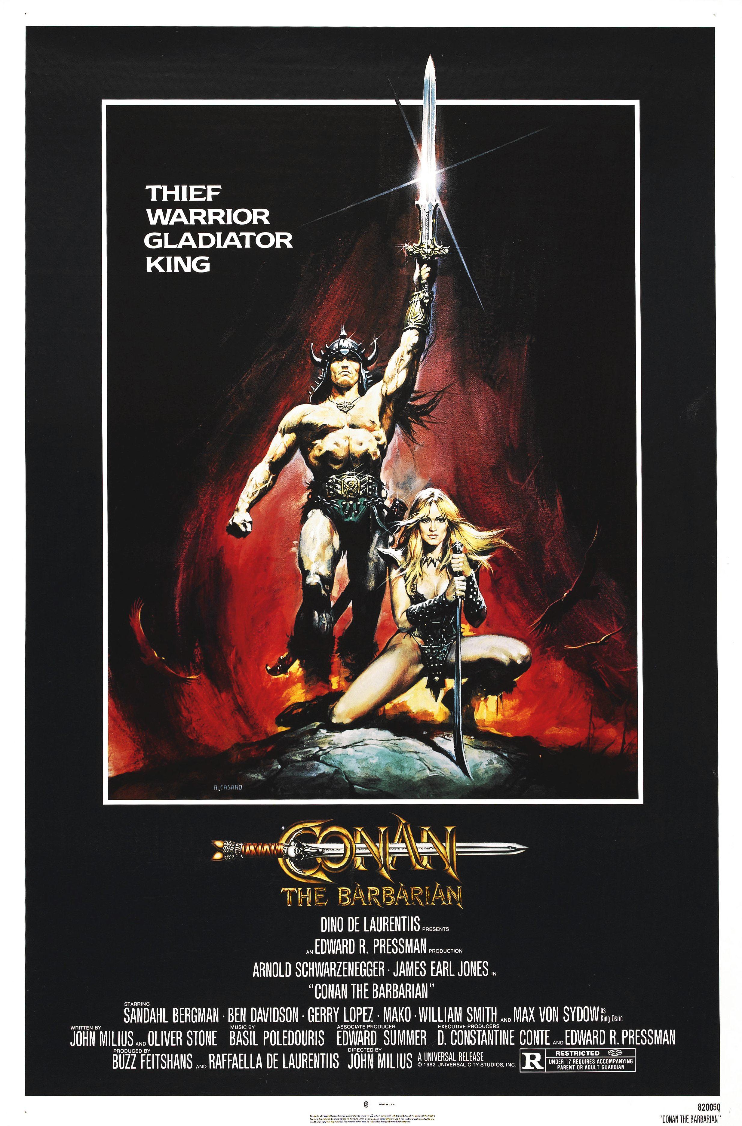 плакат фильма Конан-варвар