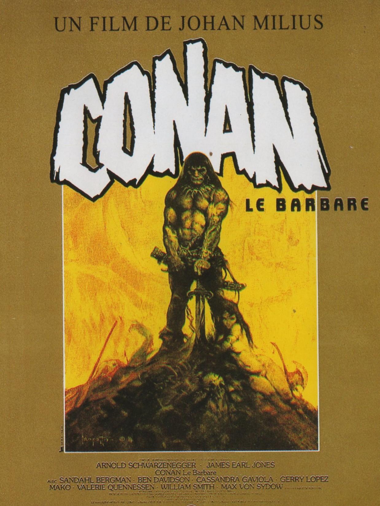 плакат фильма тизер Конан-варвар