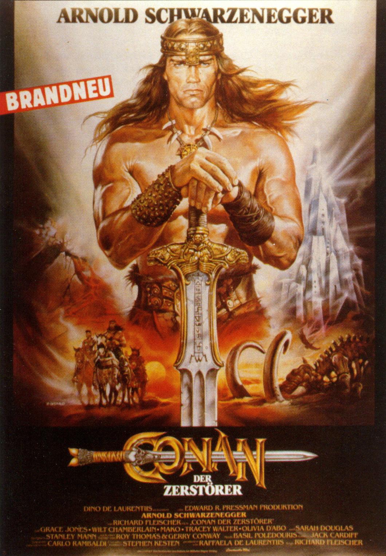 плакат фильма Конан-разрушитель