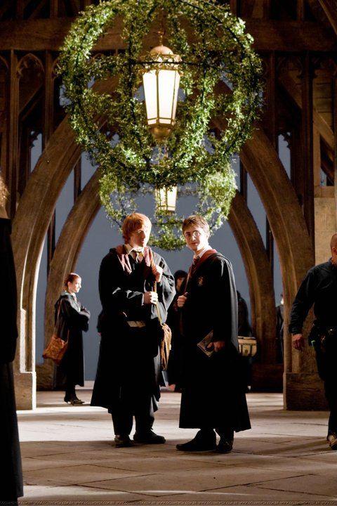со съемок Гарри Поттер и Принц-полукровка Руперт Гринт, Дэниэл Рэдклифф,