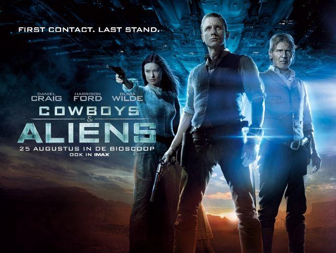 плакат фильма биллборды Ковбои против пришельцев