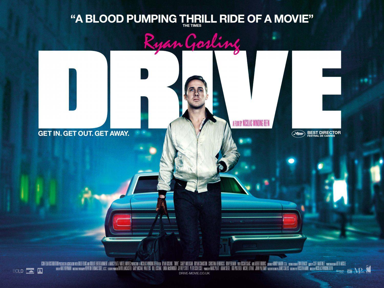 плакат фильма биллборды Драйв